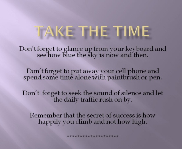 Take The Time2